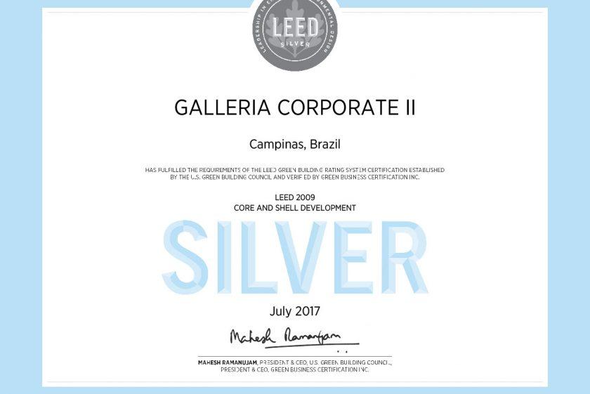 LEED Galleria Corporate II: tecnologia e sustentabilidade em Campinas